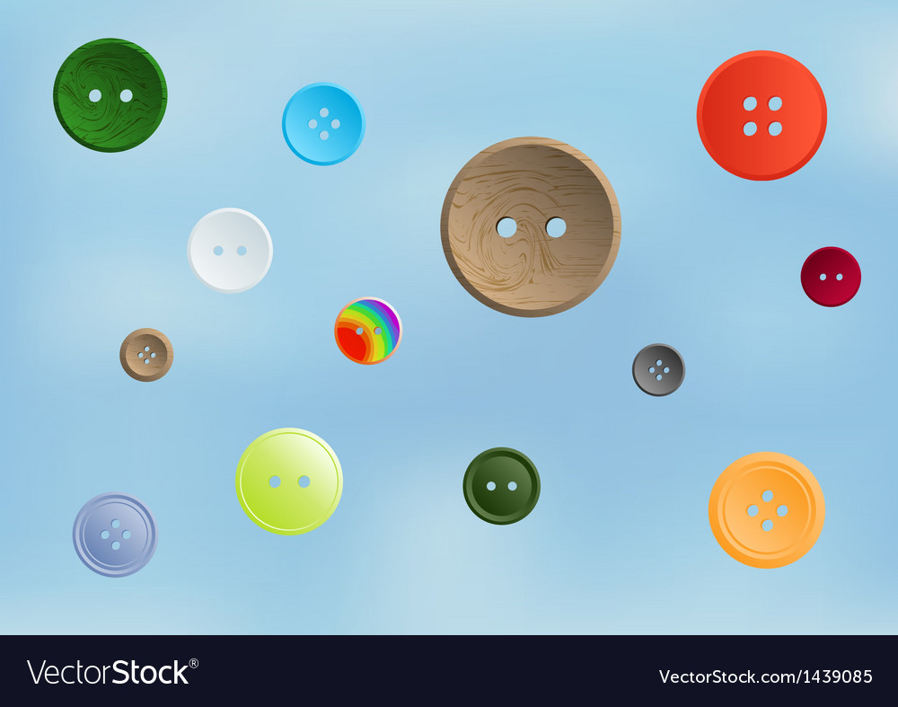 Collection of various sewing button vector