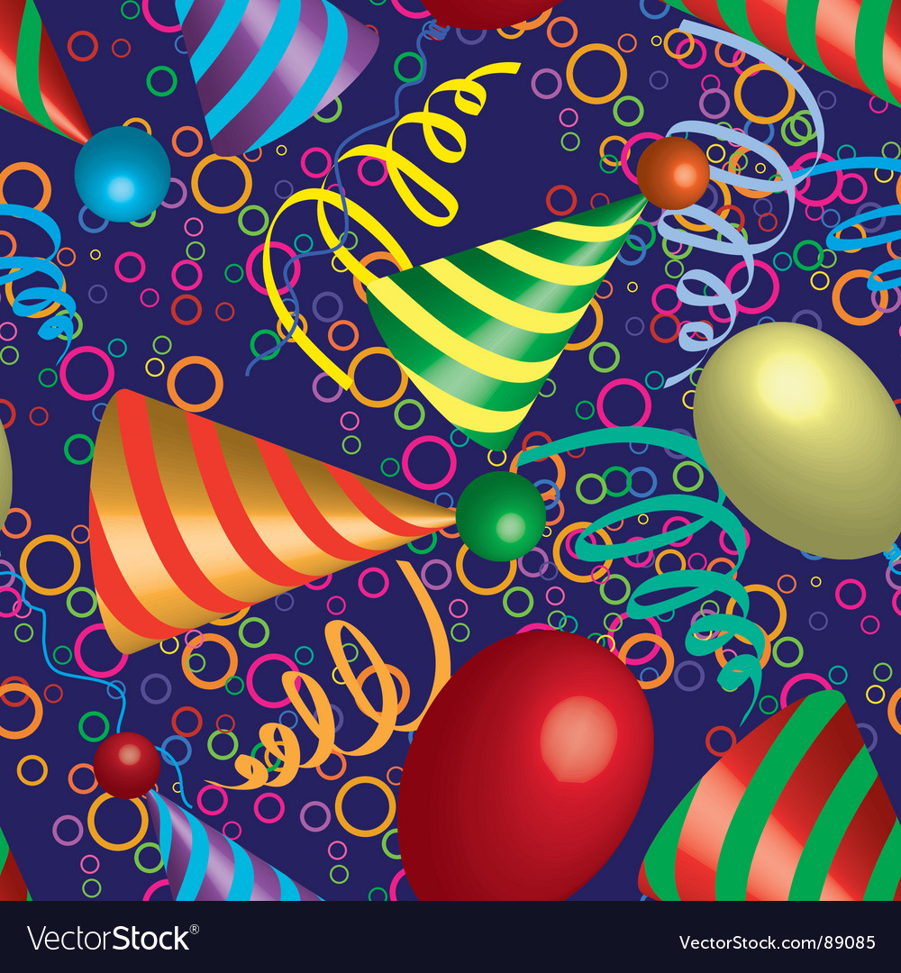 Party seamless pattern vector