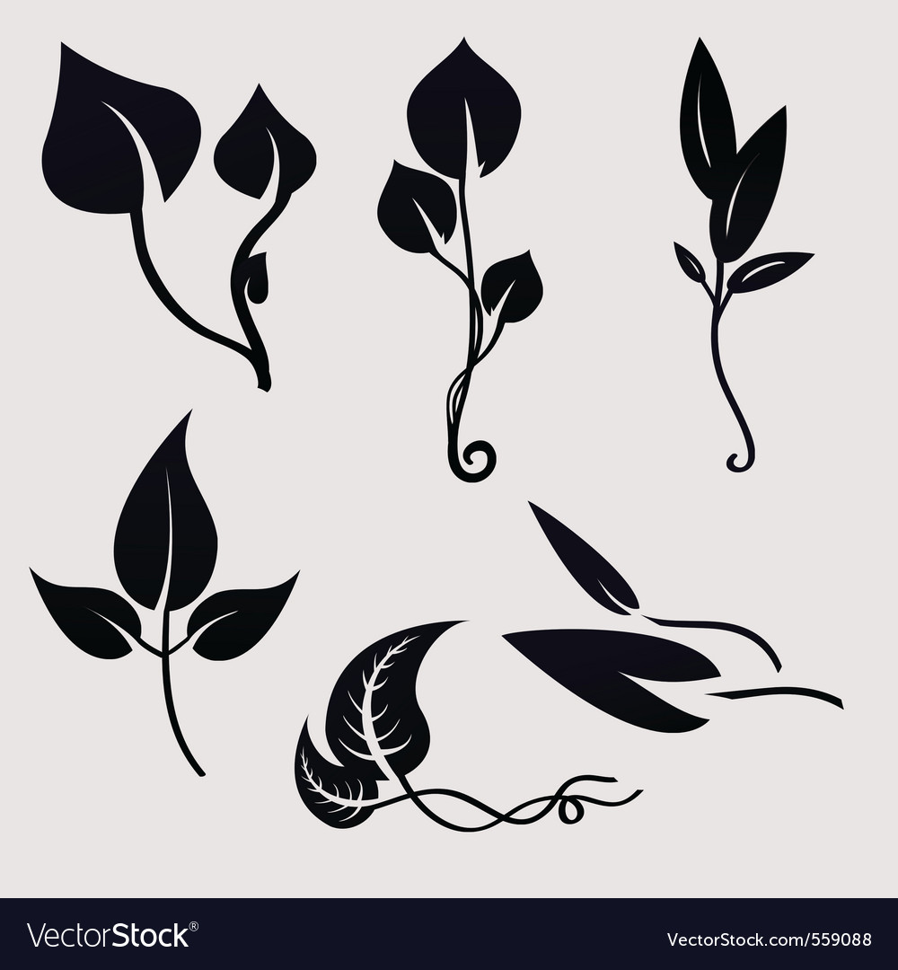 Plants silhouettes vector