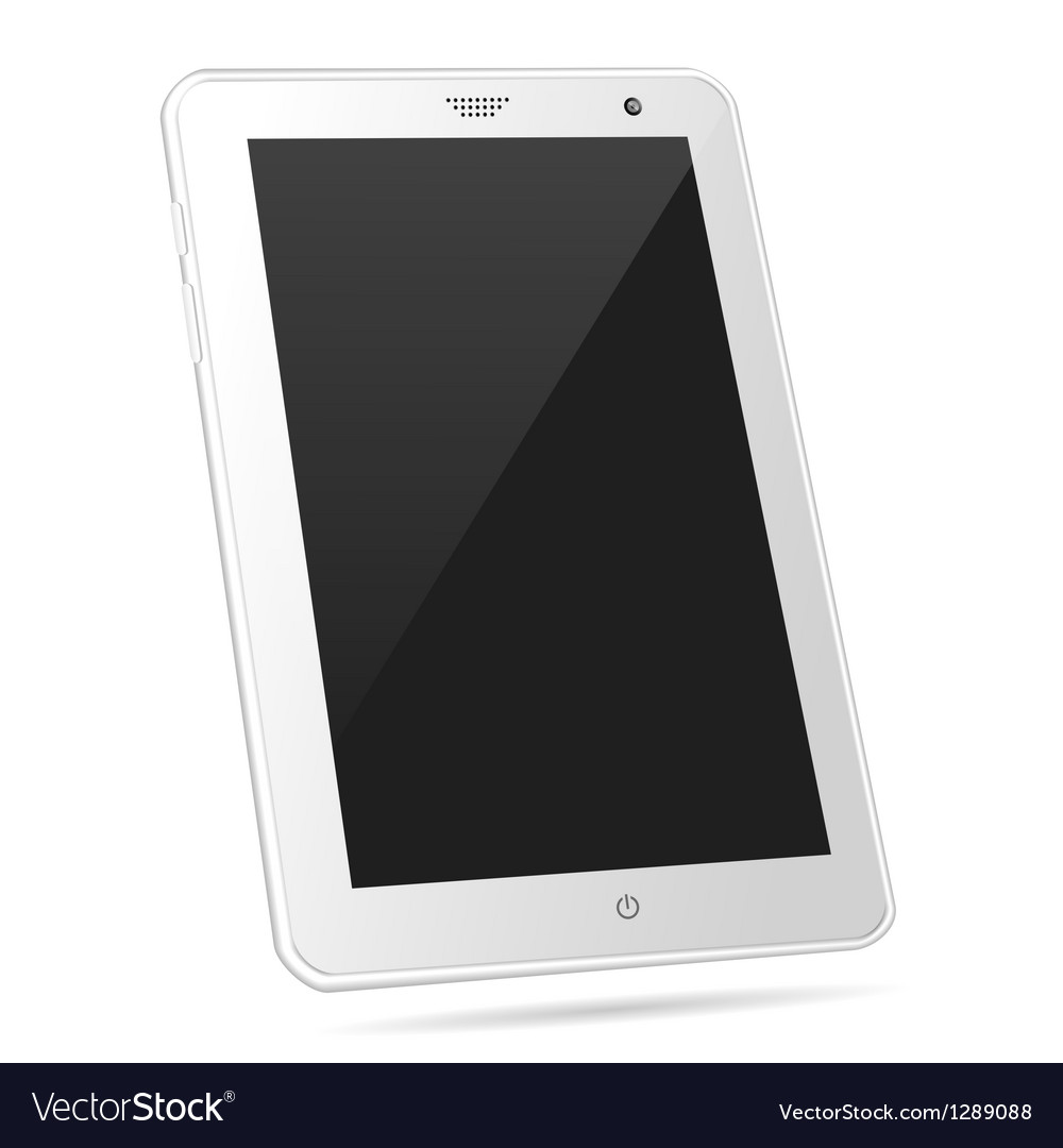 Tilted white tablet pc eps10 vector