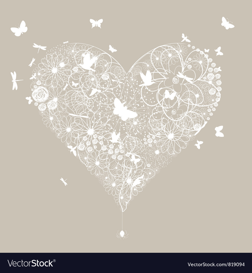 Wedding heart vector