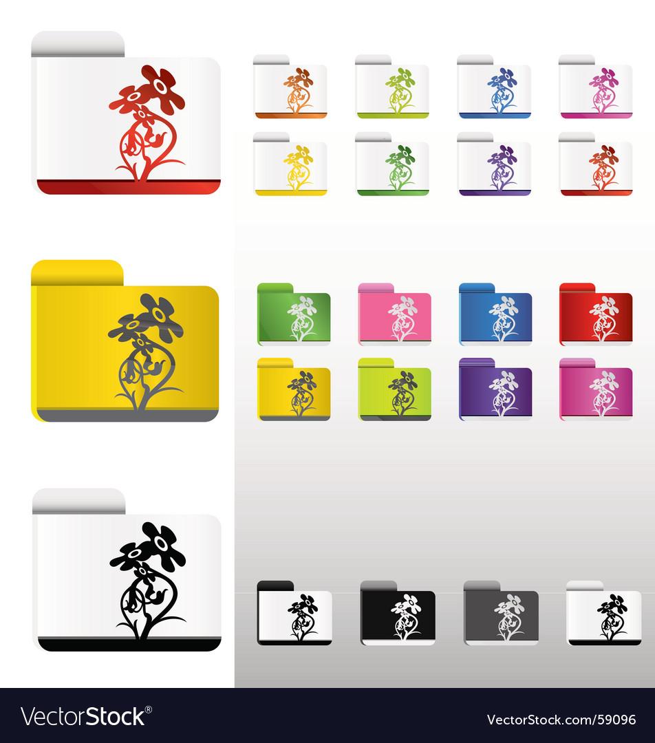 Flower folders vector