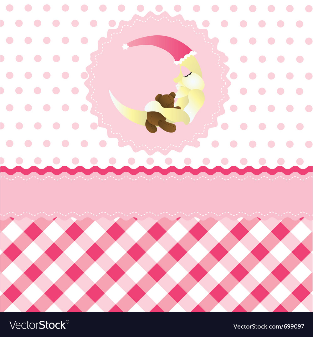 Seamless baby girl pattern vector