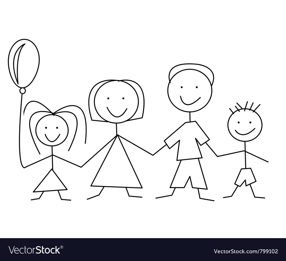 Cartoon comic family vector