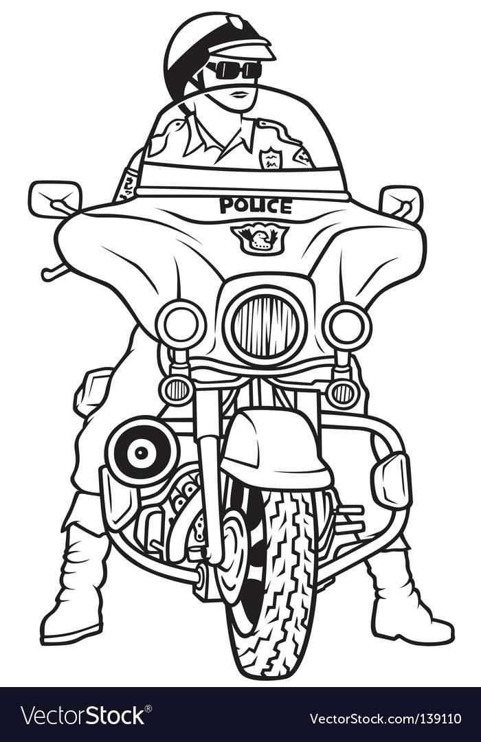 Road police vector