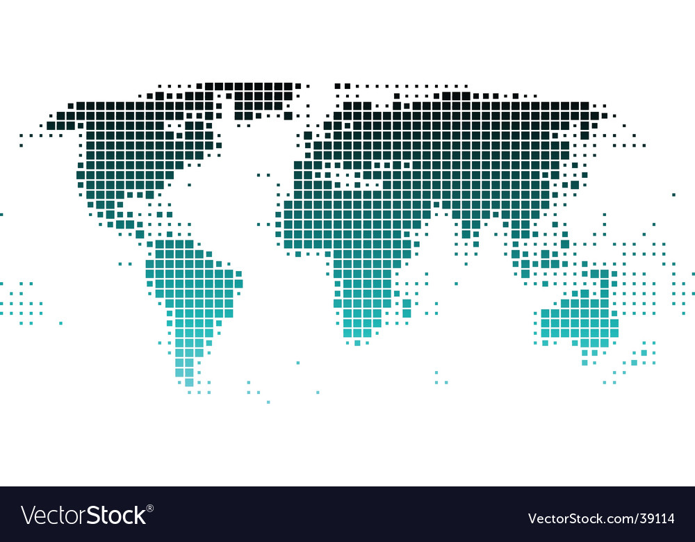 world map of squares vector