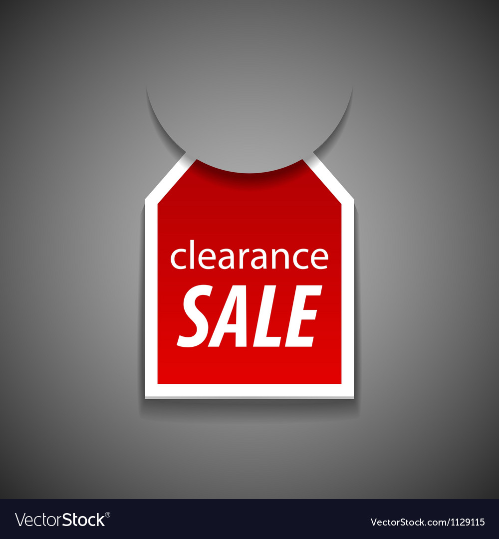 Clearance sale tag vector