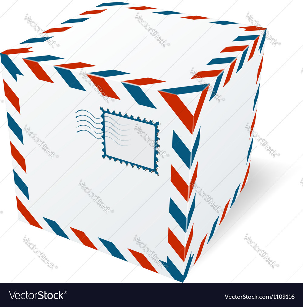 Isolated cardboard box vector