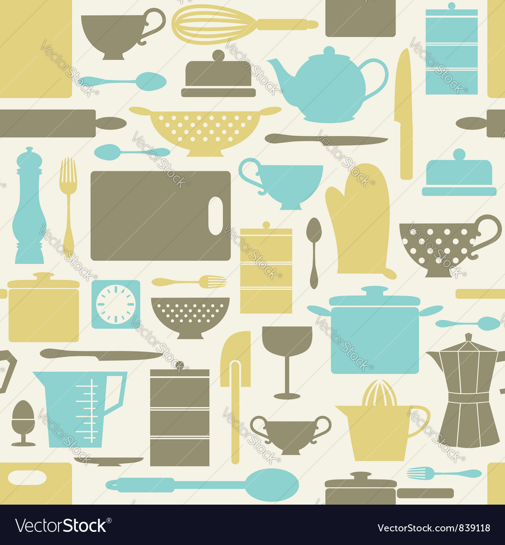 Kitchen pattern vector