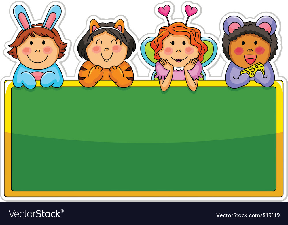 Playful kids vector
