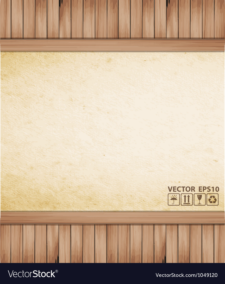 Brown paper background and wood texture vector