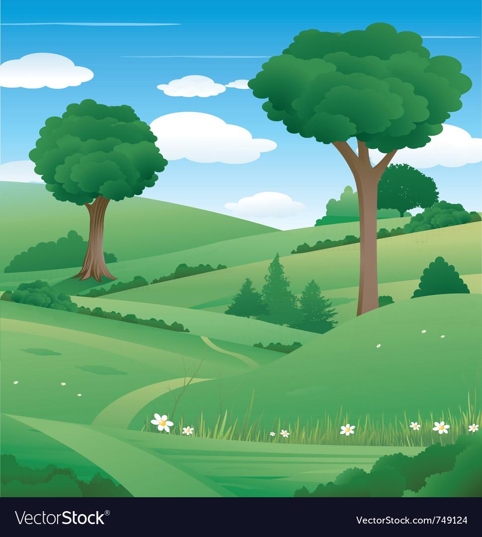 Nature landscape vector