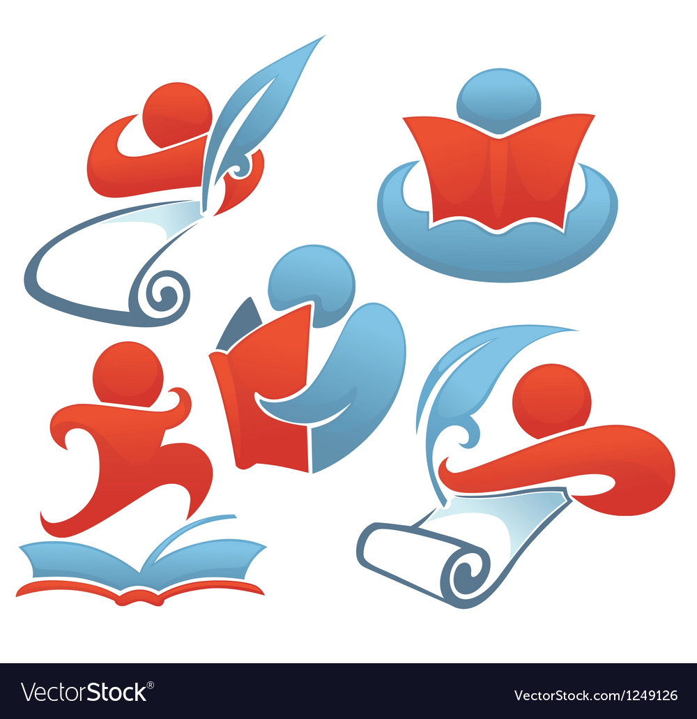 Reading and education vector