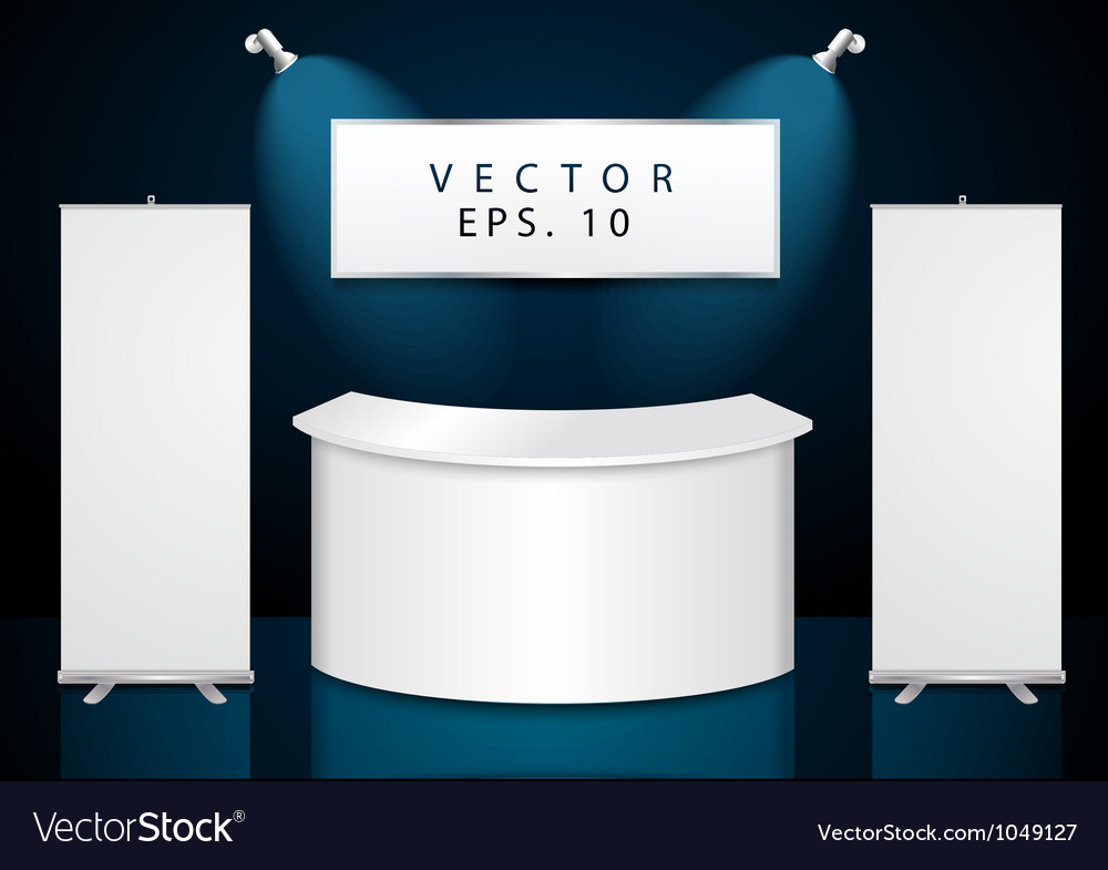 Reception exhibition counter vector