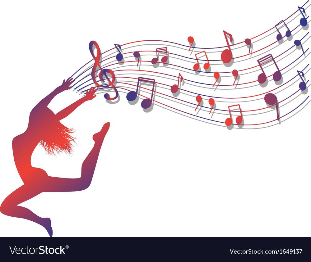 Musical ecstasy vector