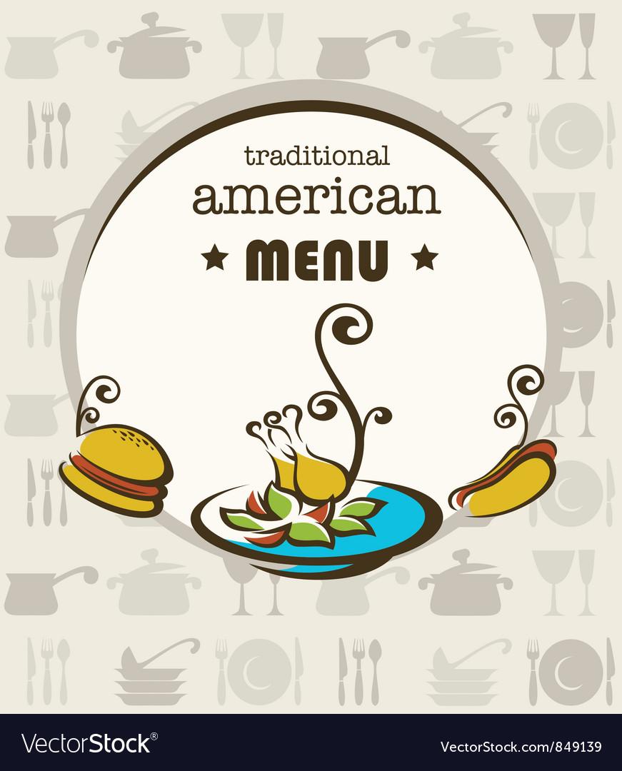American menu vector