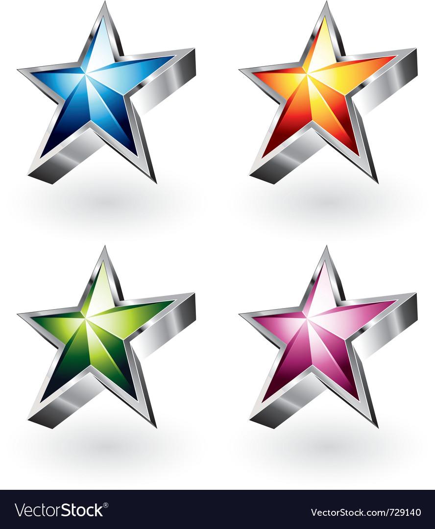 Shiny stars vector