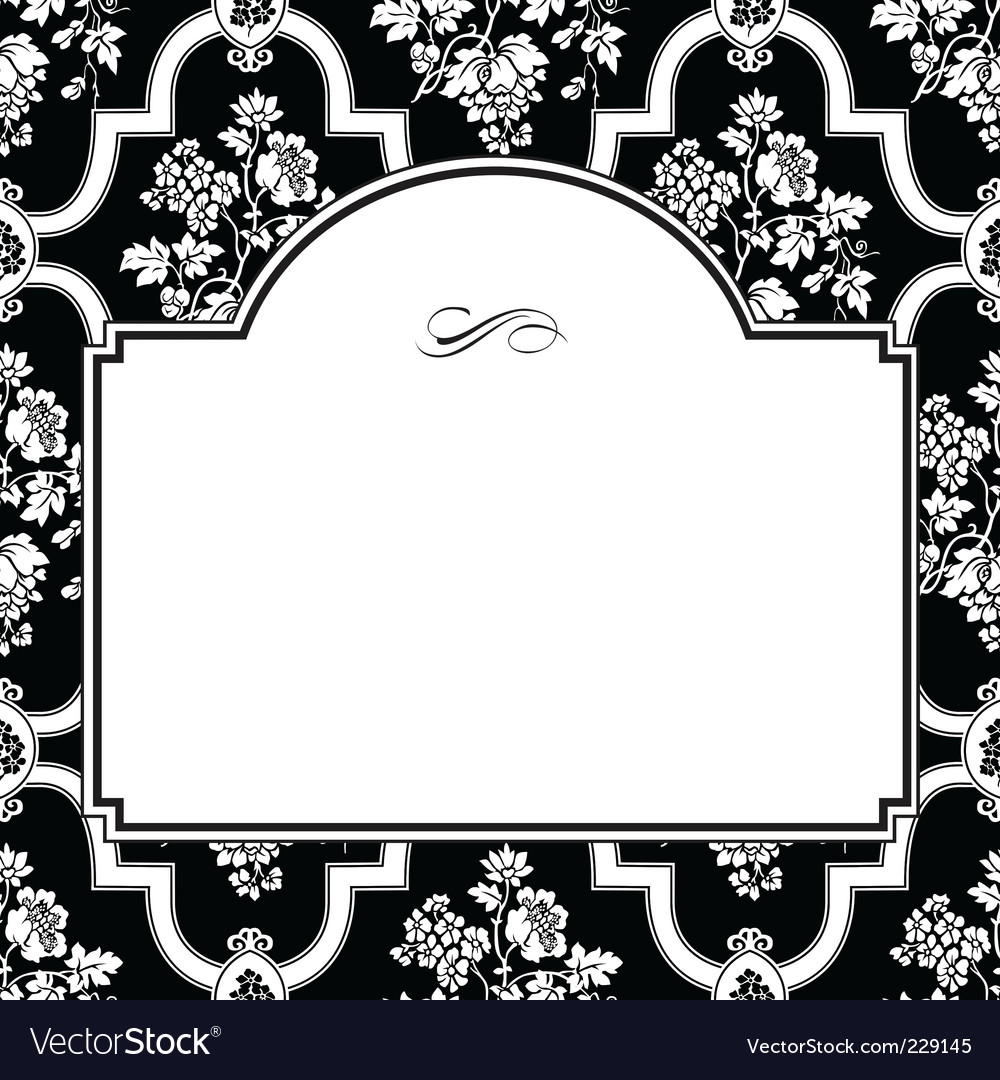 square fancy rose frame vector