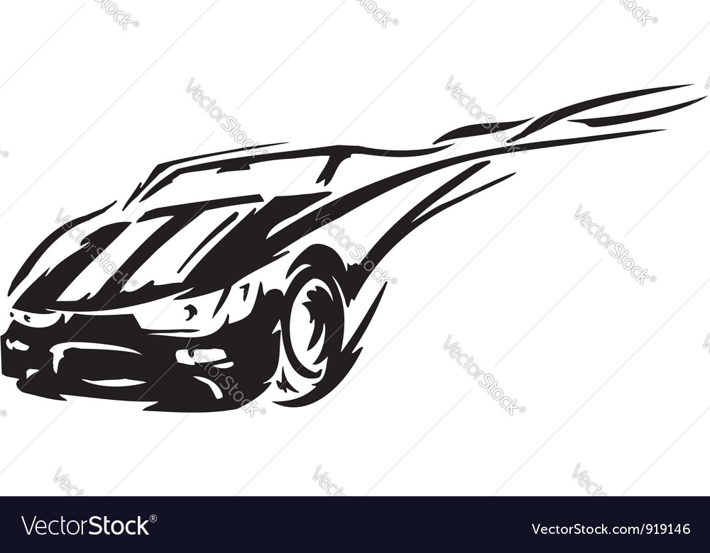 Race car - vector