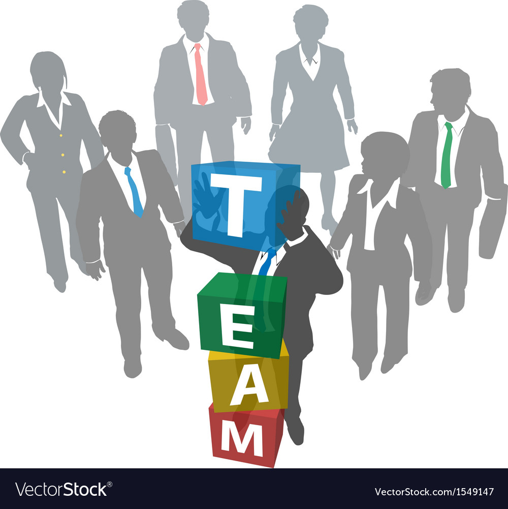 Business people build company team vector