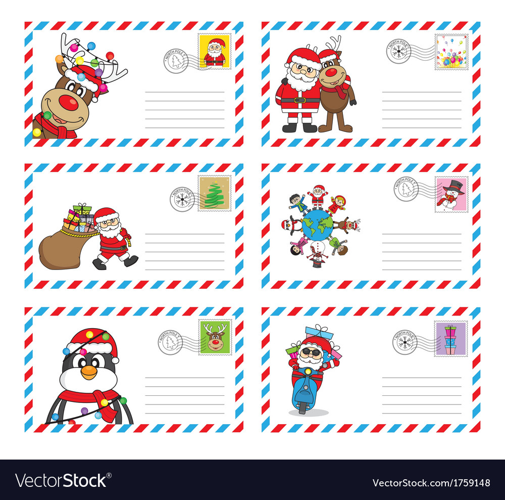 Envelope to send letter to santa claus vector by sbego - Image ...