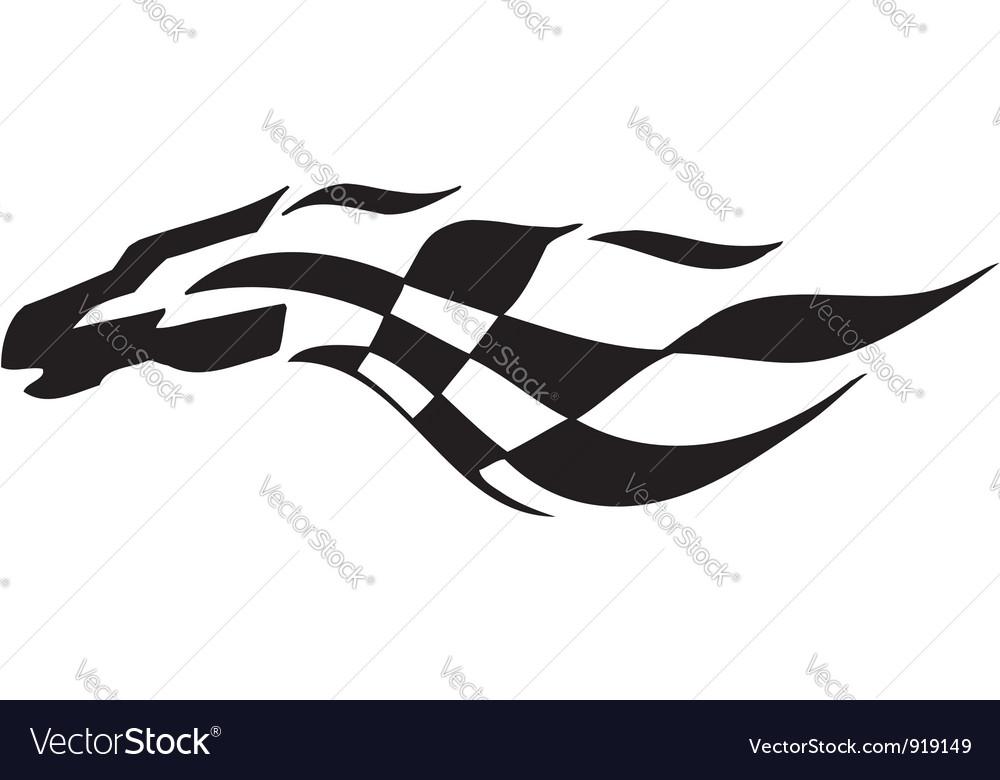 Checkered flag - symbol racing vector