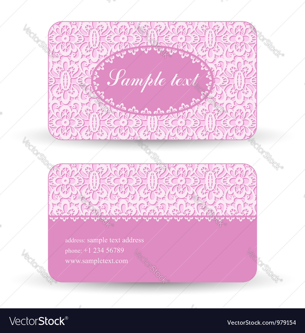 Lacy card vector