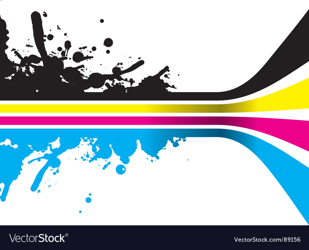 Cmyk color strips vector
