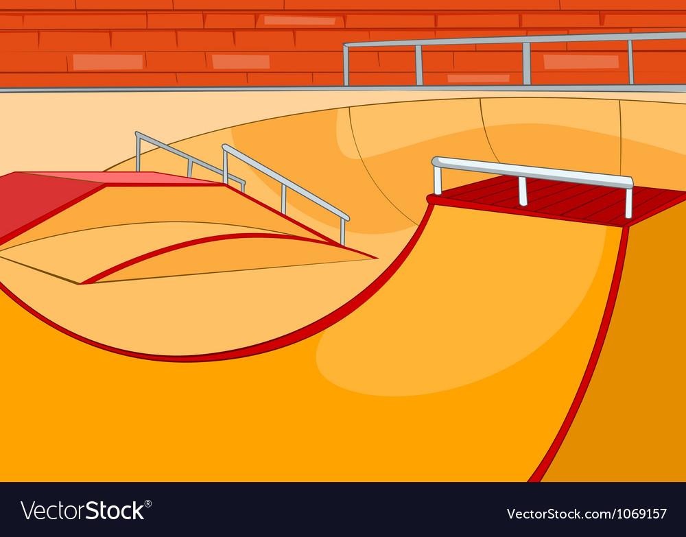 Skate ramp vector