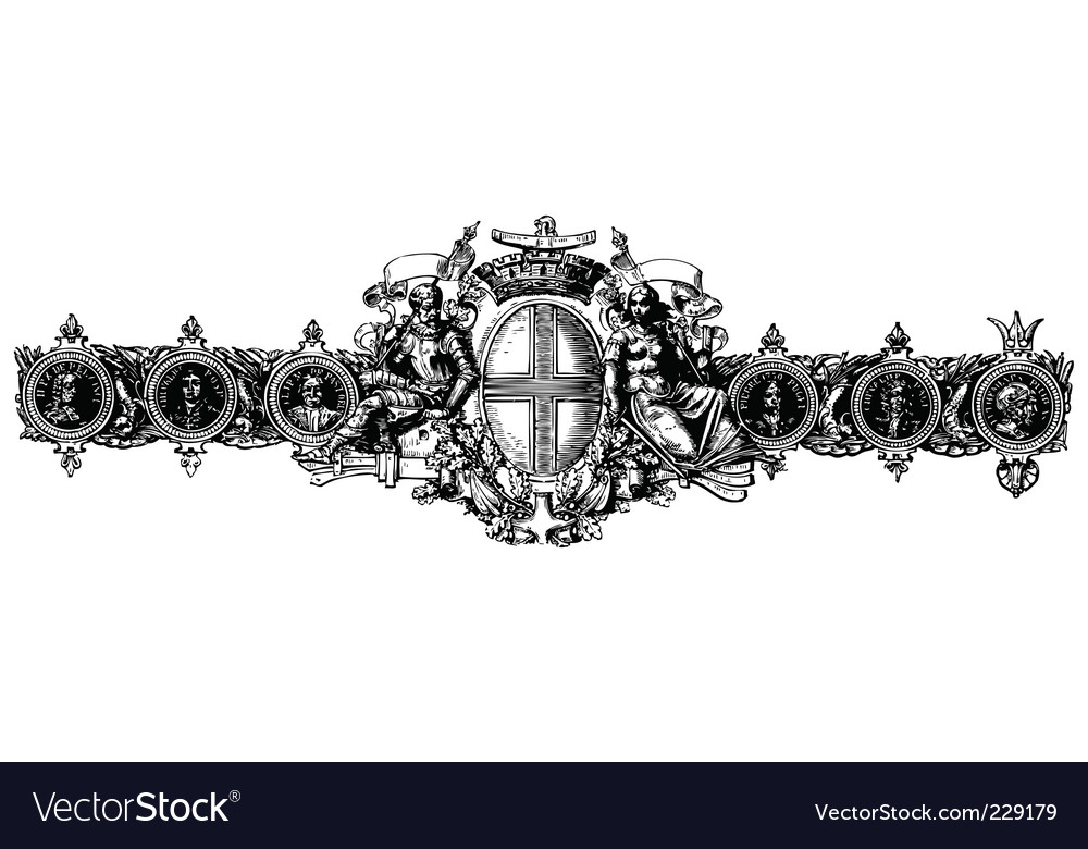 Baroque ornament vector