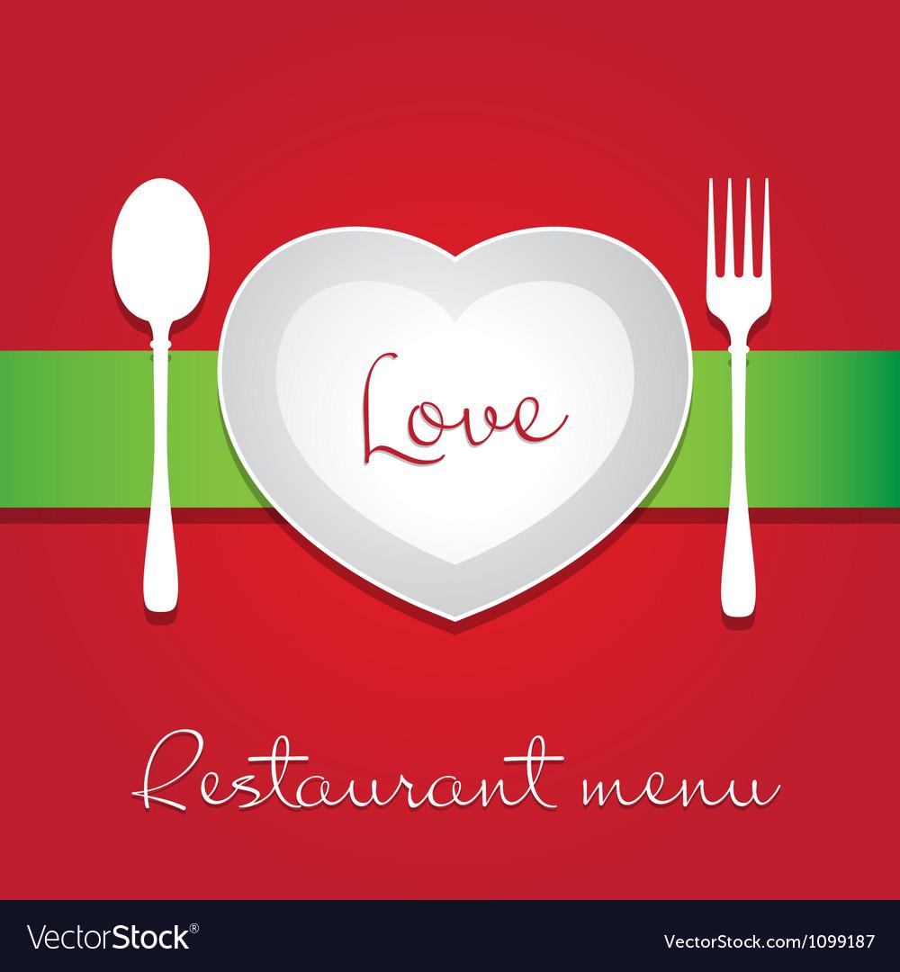 Love menu vector