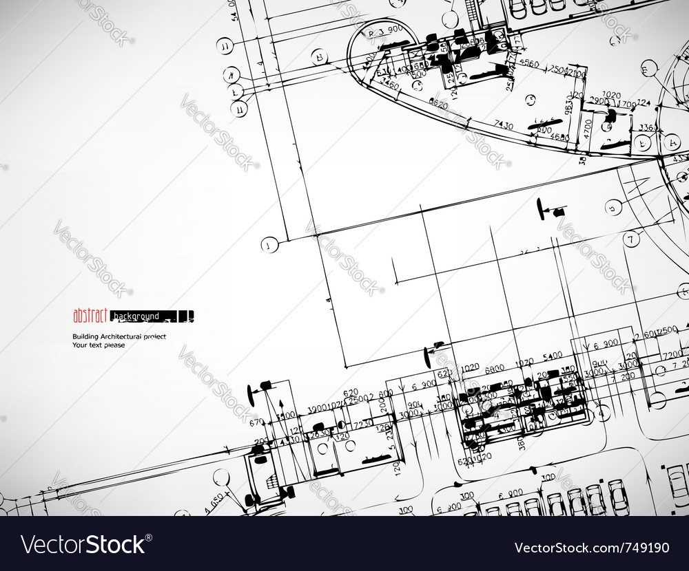 Architectural sketches background vector