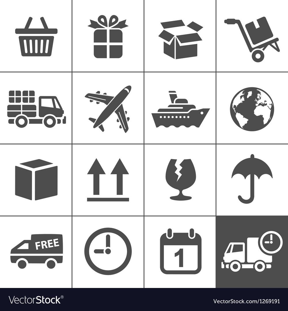 Logistics icons set simplus series vector