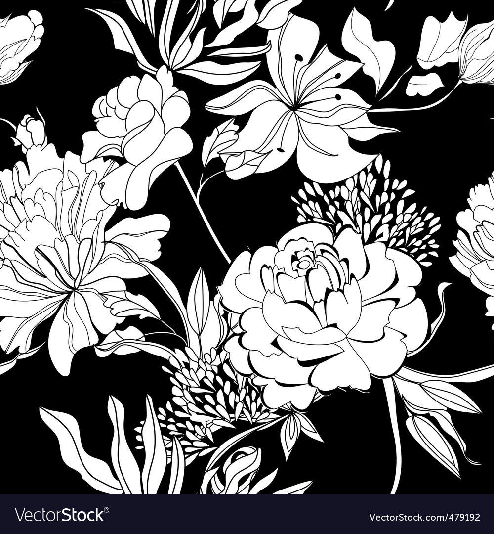 Decorative seamless wallpaper vector