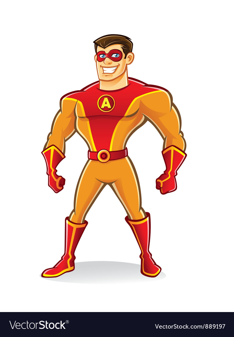Handsome superhero vector