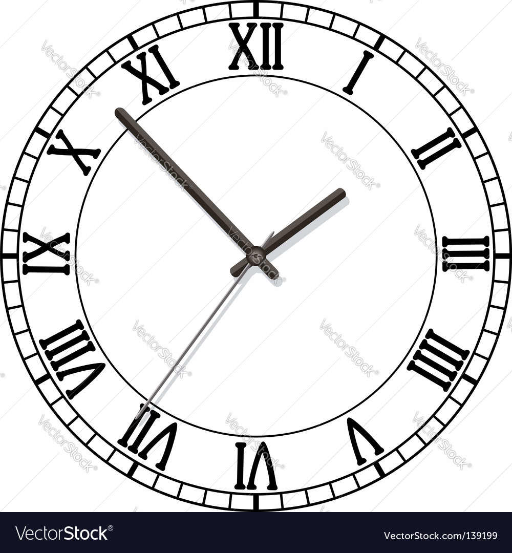 Old clock vector