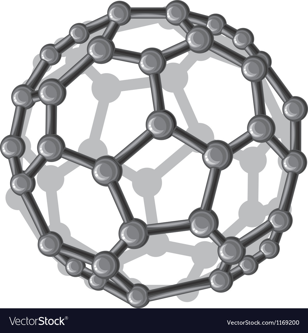 Molecular structure of the c60 buckyball vector