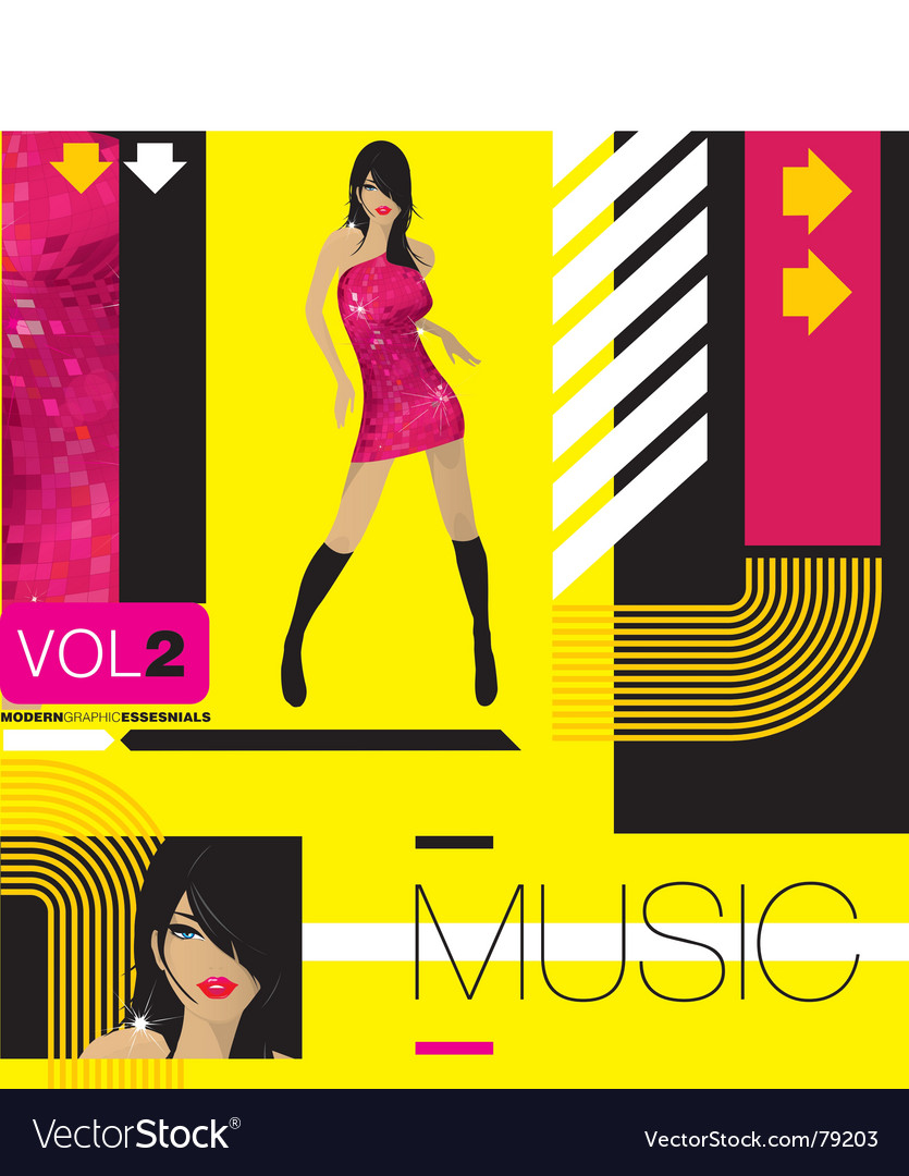 Free modern music vector