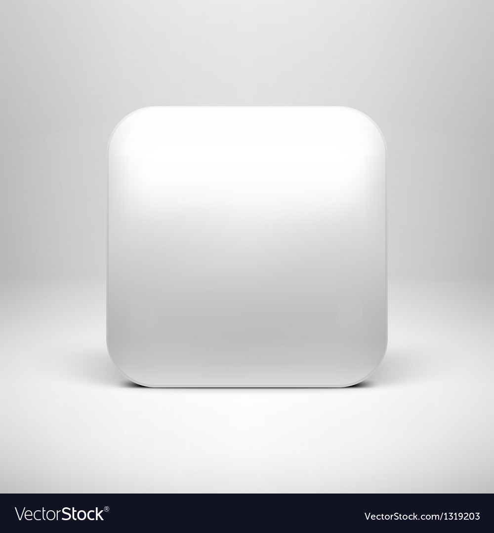 Technology white blank app icon template vector