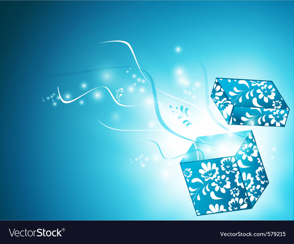 Magic gift box vector