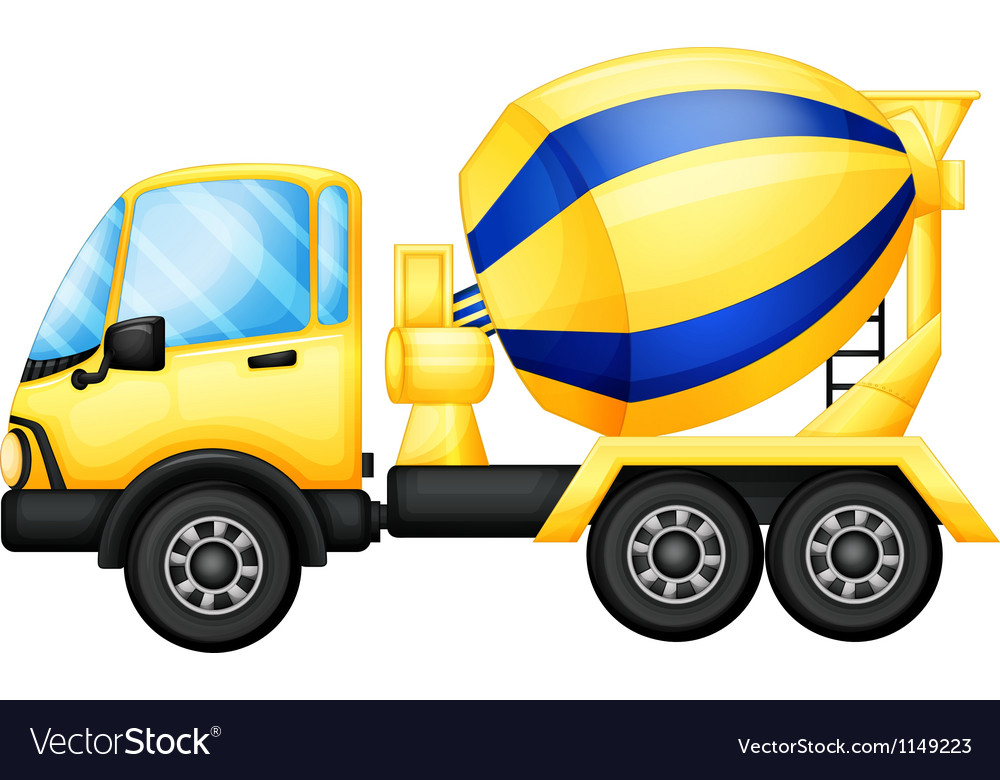 A yellow truck vector