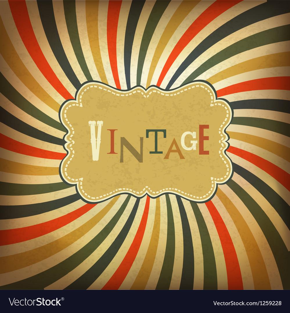 Grunge vintage background vector