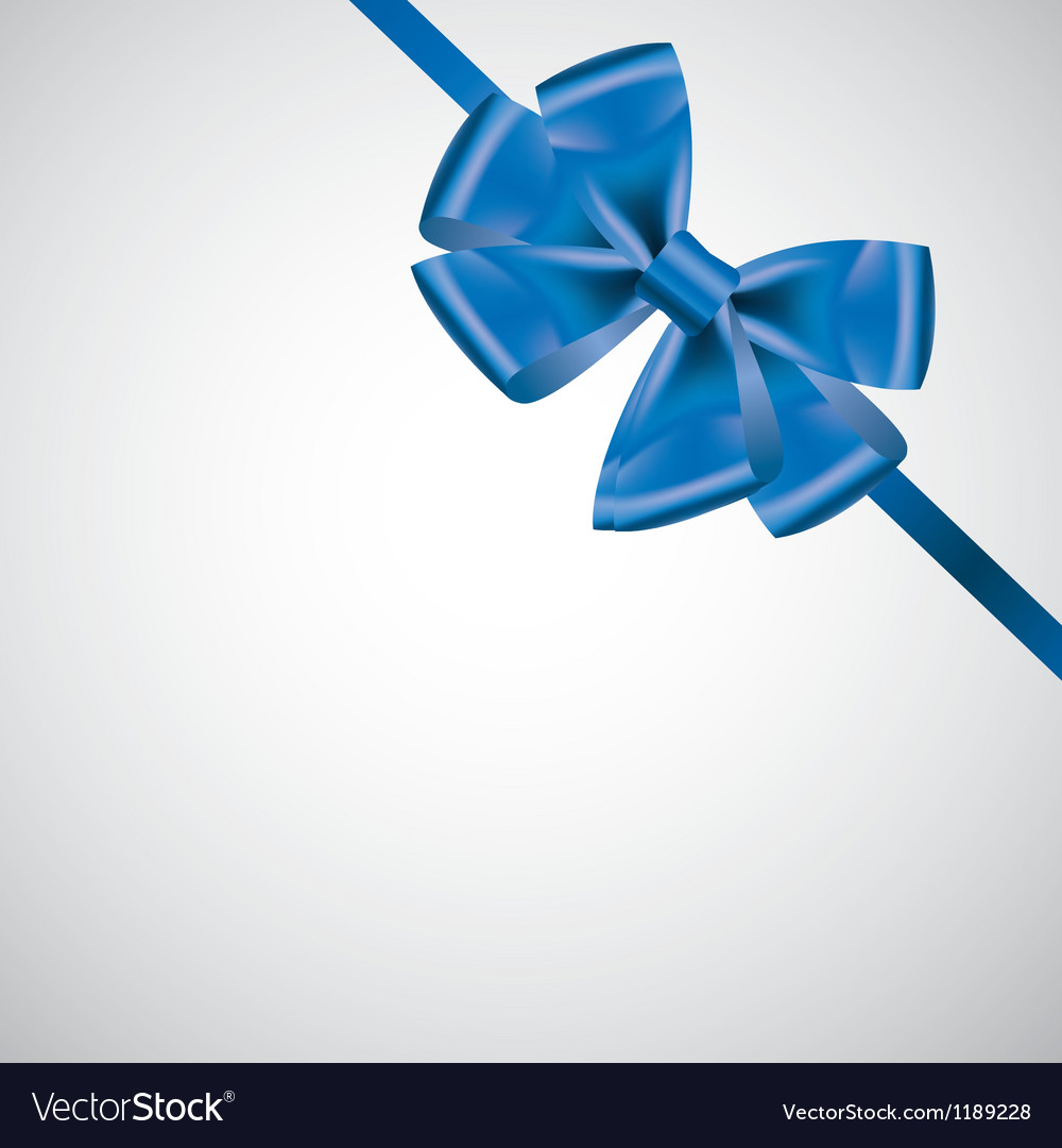 Ribbon with bow on white vector