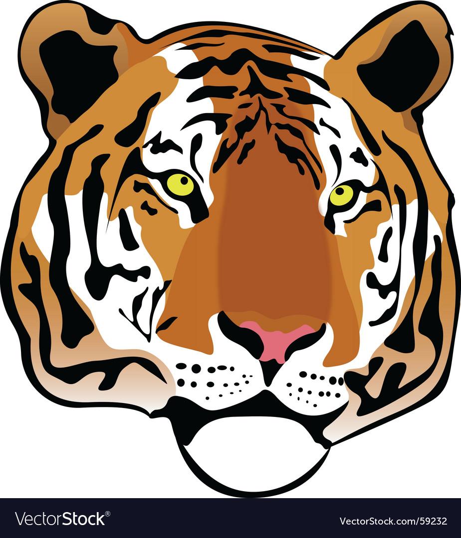 Siberian tiger vector