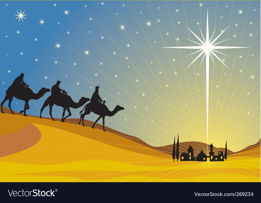 Shining star of bethlehem vector