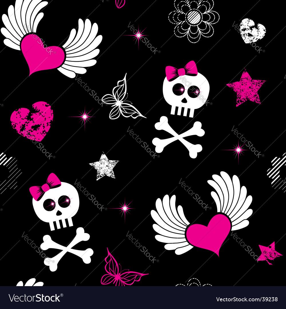Emo symbols background vector