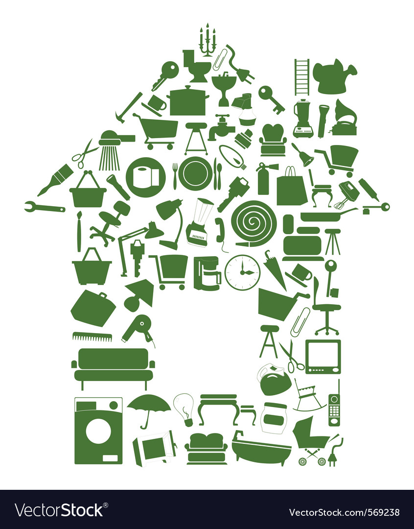 House of icons vector