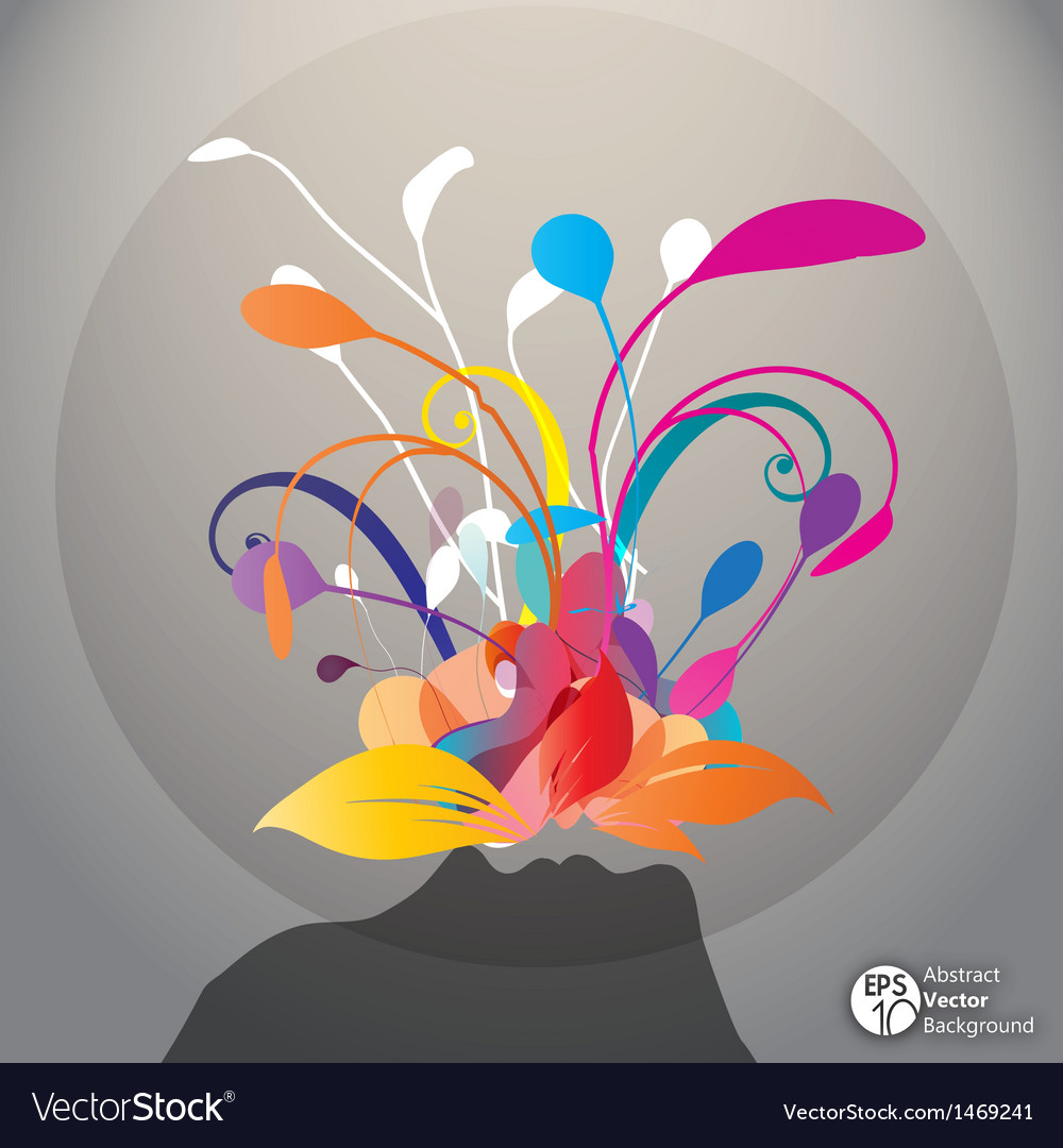 Flowers and people silhouettes vector