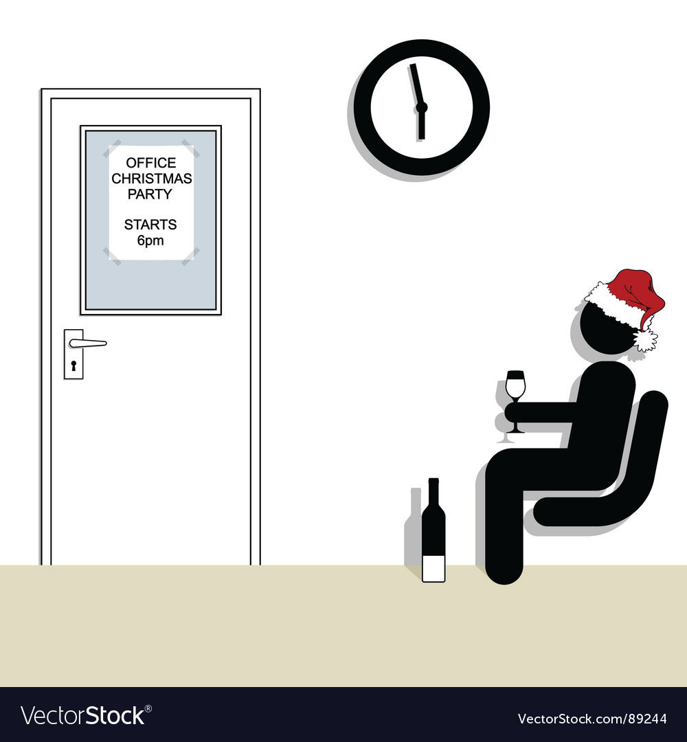 Office christmas party vector