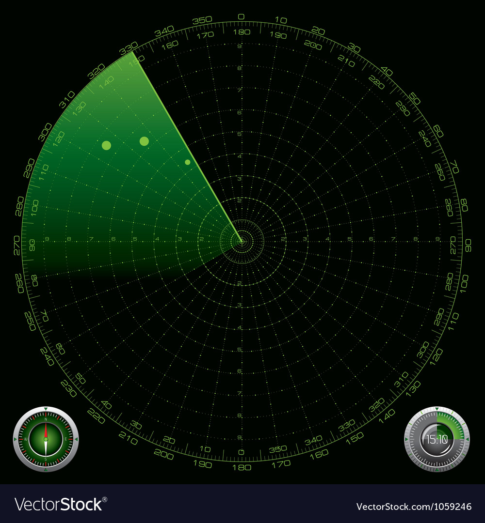 Detailed of a radar screen vector